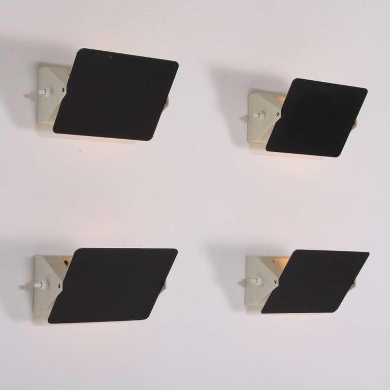Set Of Four Charlotte Perriand Cp1 Wall Appliques, France, 1960s 2