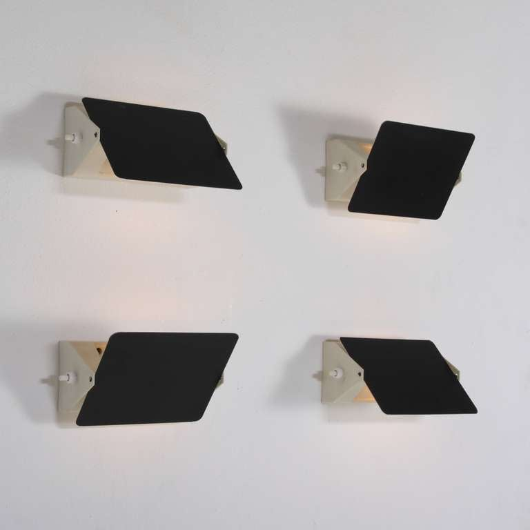 set of four charlotte perriand cp1 wall appliques at 1stdibs. Black Bedroom Furniture Sets. Home Design Ideas