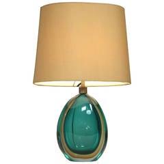 Flavio Poli Murano Glass Table Lamp,Seguso, Italy, 1950s