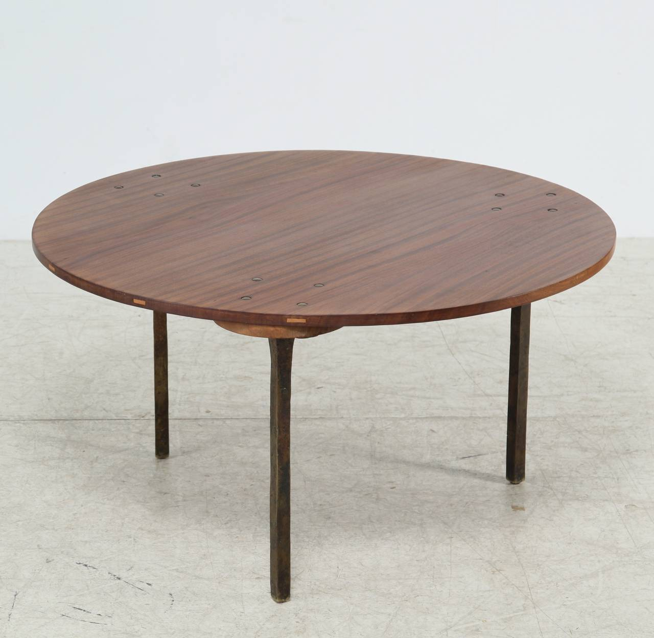 Coffee Table With Bronze Legs: Sculptural Coffee Table By Paul Dierkes With Bronze Legs