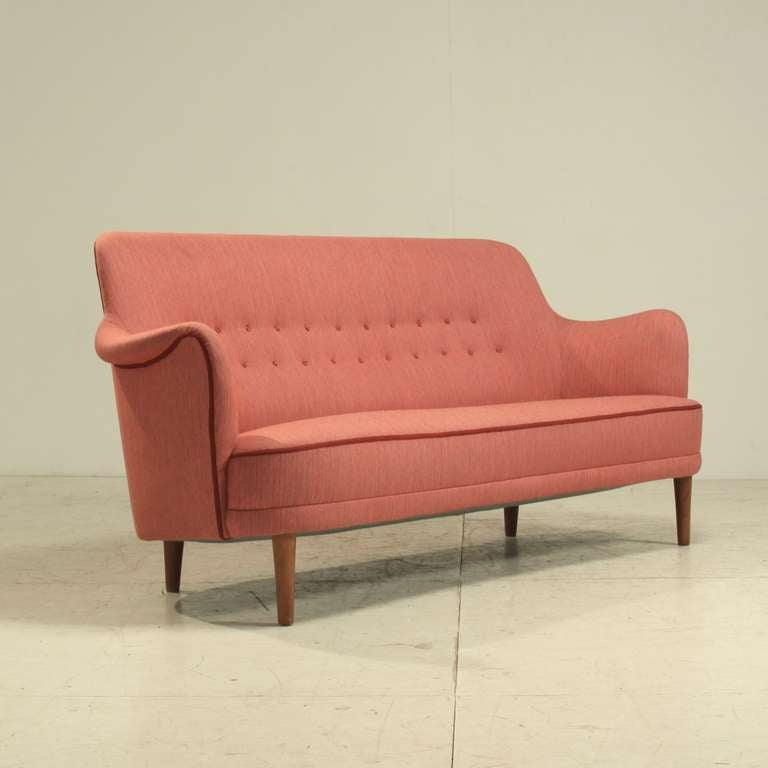 Carl Malmsten Sofa Samsas In Red Sweden For Sale At 1stdibs: carl malmsten sofa