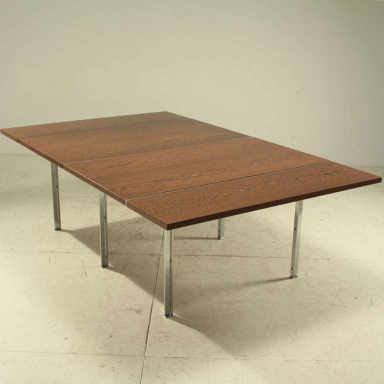 Rare Wenge and Stainless Steel Table by Preben Fabricius  : FabriciusKastholmXXLtablefoto1l from www.1stdibs.com size 768 x 768 jpeg 31kB