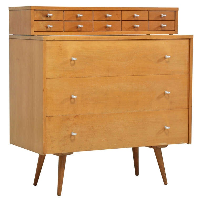 paul mccobb planner group chest of drawers with top jewelry chest at 1stdibs. Black Bedroom Furniture Sets. Home Design Ideas