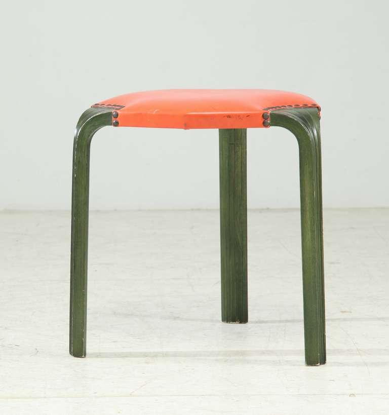 1950s Quot X600 Quot Tomato Stool By Alvar Aalto For Artek For
