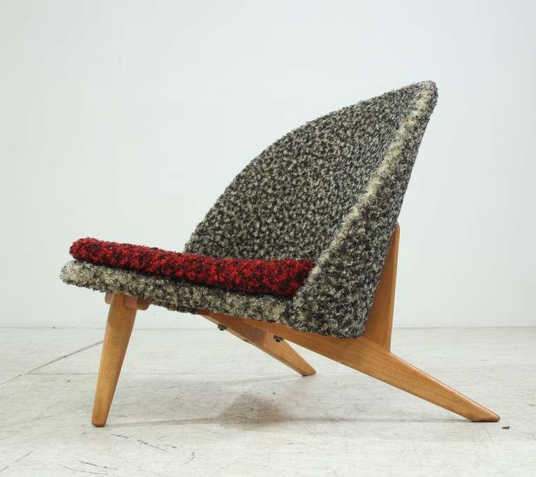 Captivating Mid Century Modern Rare Swedish Trileg Lounge Chair For Sale