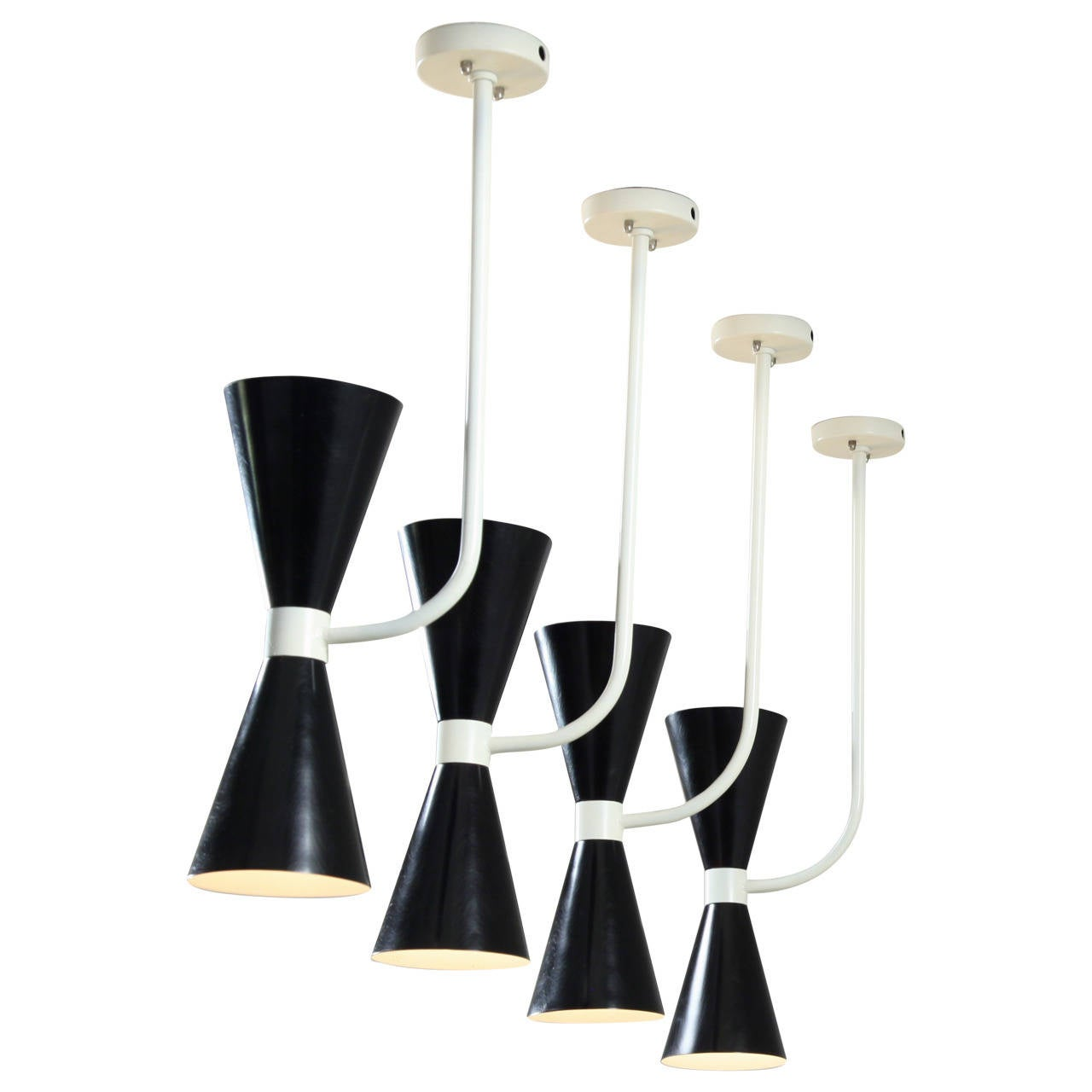 Set of six italian metal diabolo wall or pendant lamps in stilnovo set of six italian metal diabolo wall or pendant lamps in stilnovo manner 1950s for mozeypictures Image collections