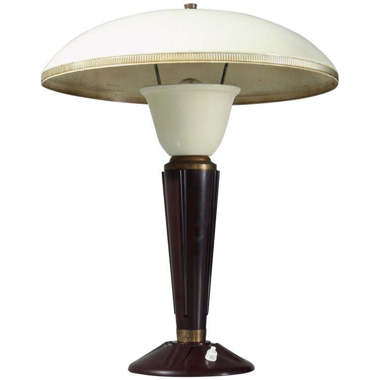 French table lamp with bakelite base, 1950s