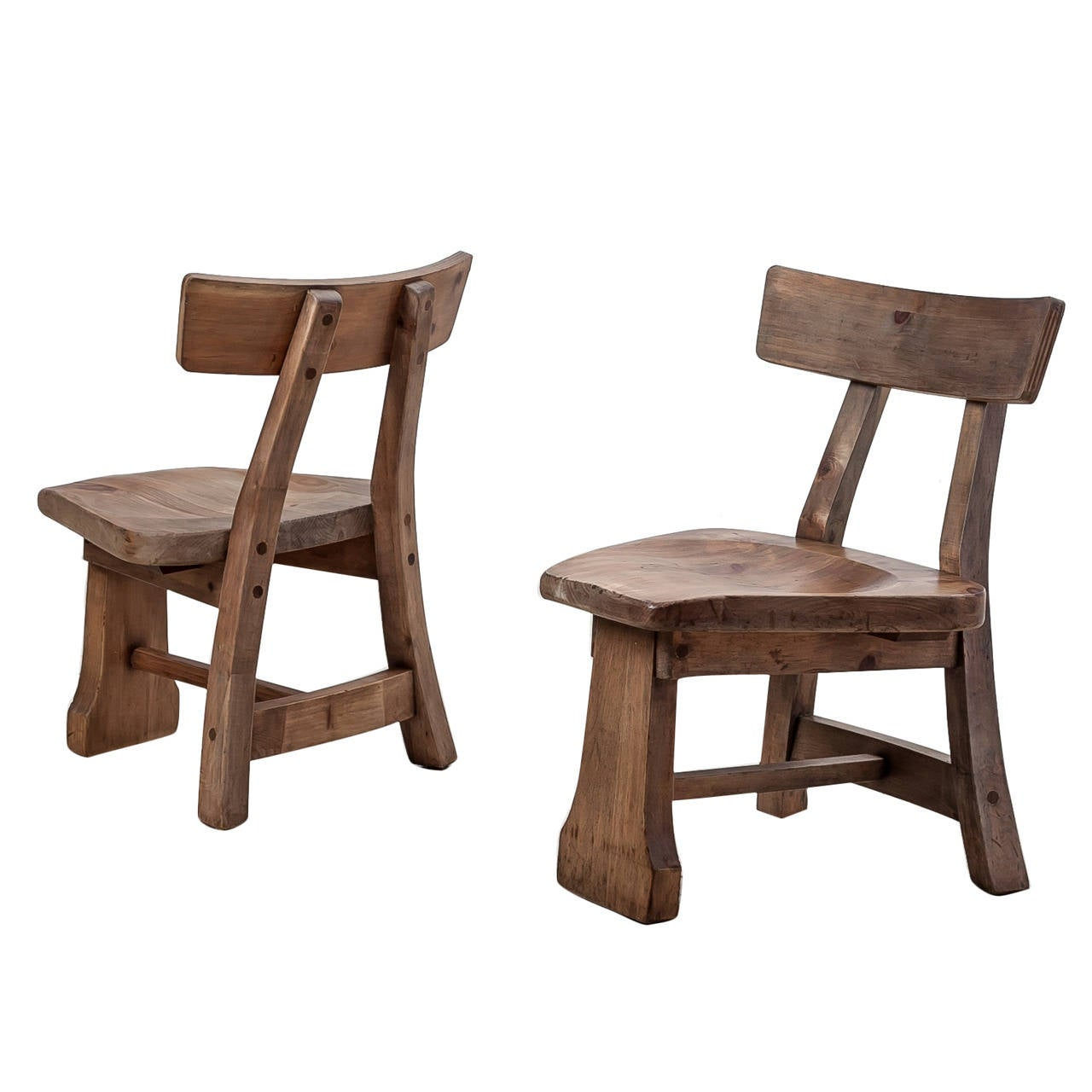 Pair of Studio Craft Chairs
