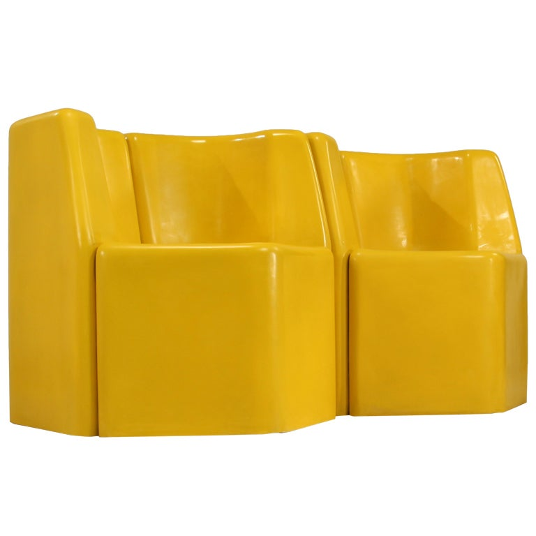 Stolle Group rare outdoor set in yellow, the Netherlands, 1960s