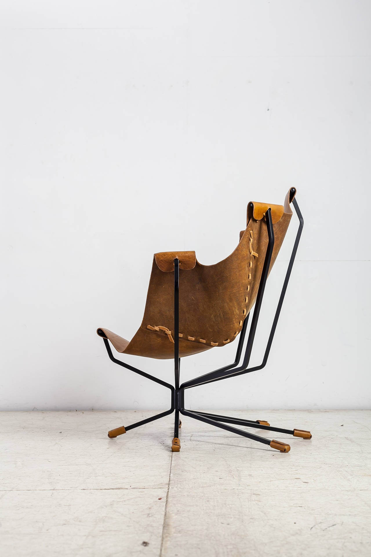 Post-Modern Special Edition Dan Wenger Sling Chair, USA, 1970s For Sale