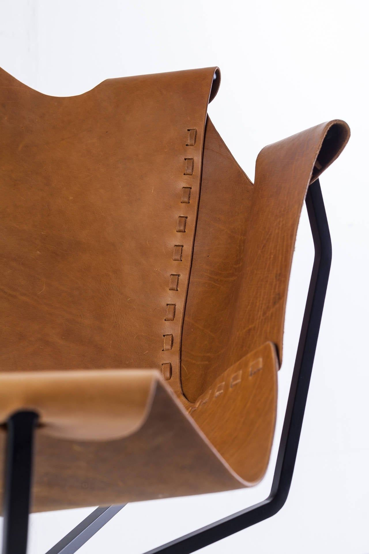 Leather Special Edition Dan Wenger Sling Chair, USA, 1970s For Sale