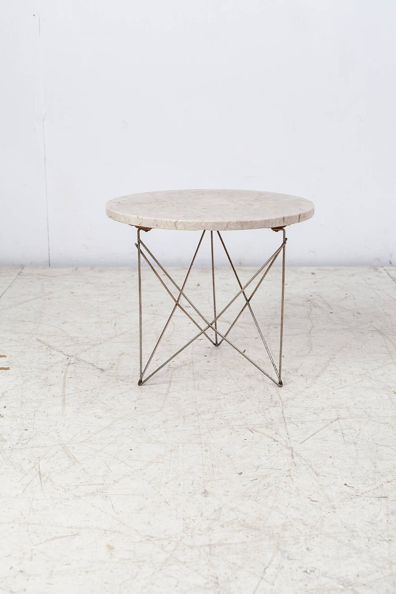 Brancusi Marble and Brass Cradle Side Table at 1stdibs