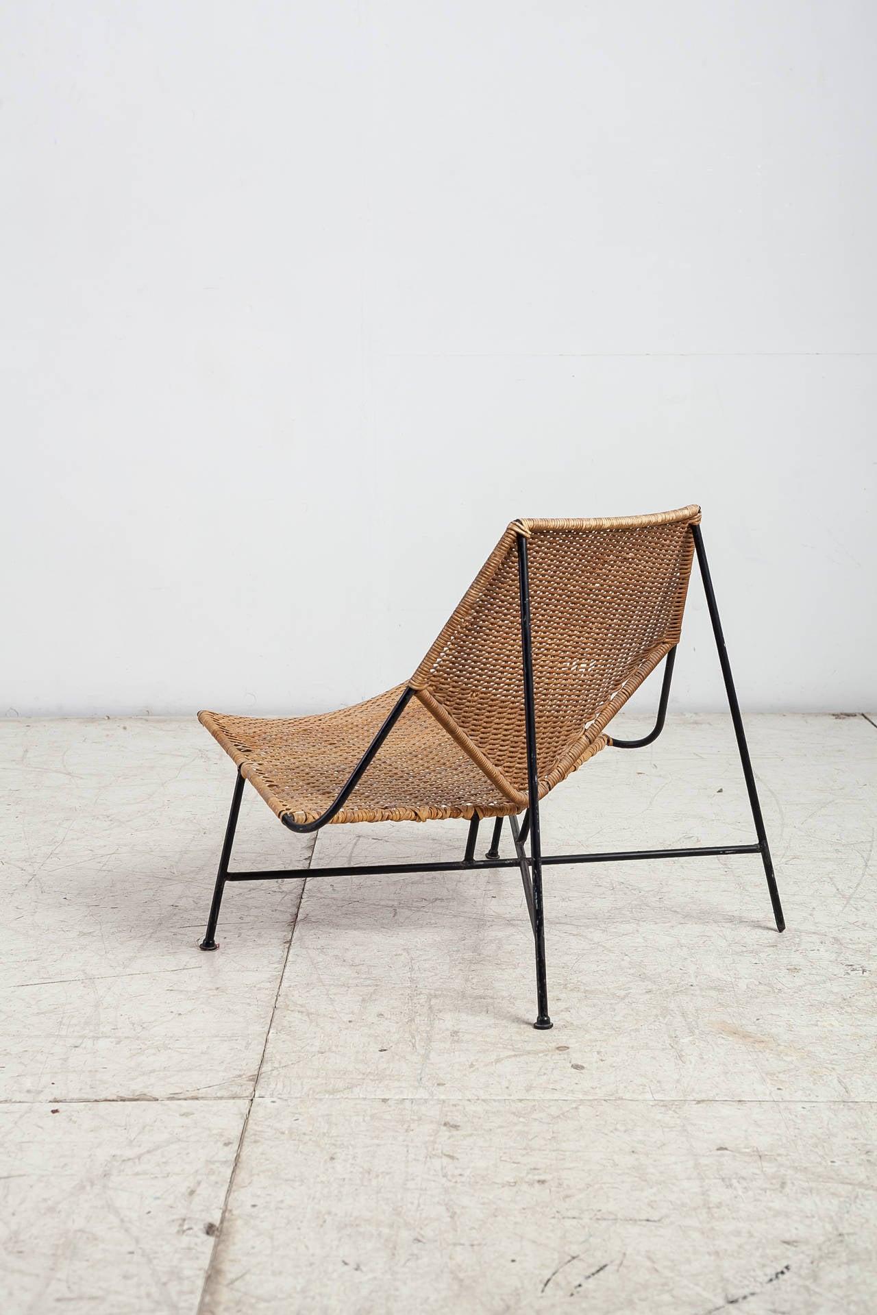 Arthur Umanoff Rattan Lounge Chair At 1stdibs