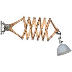 Large Johan Petter Johansson Triplex Scissor Lamp, Sweden, 1919