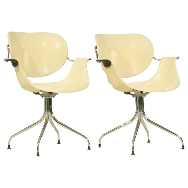 Rare pair of George Nelson MAA chairs For Sale