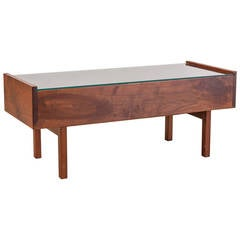 Arden Riddle Coffee Table with Glass Top