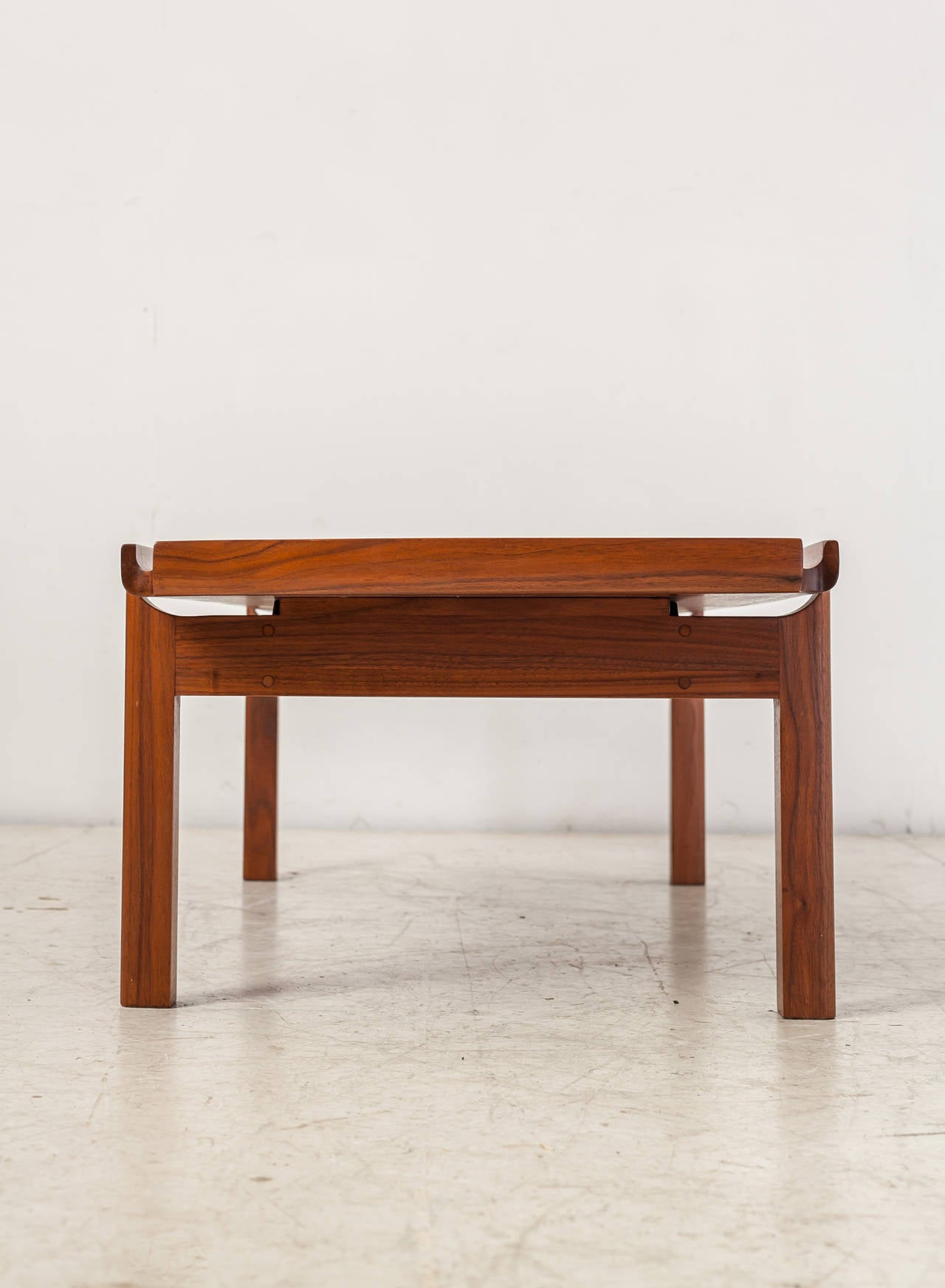 John kapel wooden coffee table with curved edges for sale at 1stdibs john kapel wooden coffee table with curved edges 3 geotapseo Images