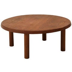 Charlotte Perriand Round Low Table In Oak