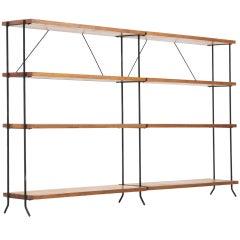 Minimalist iron and wood room divider / stelve unit
