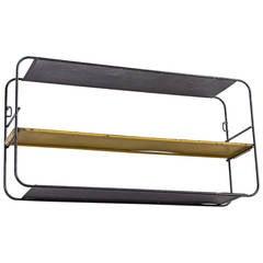 Matégot Black and Yellow Metal Shelves