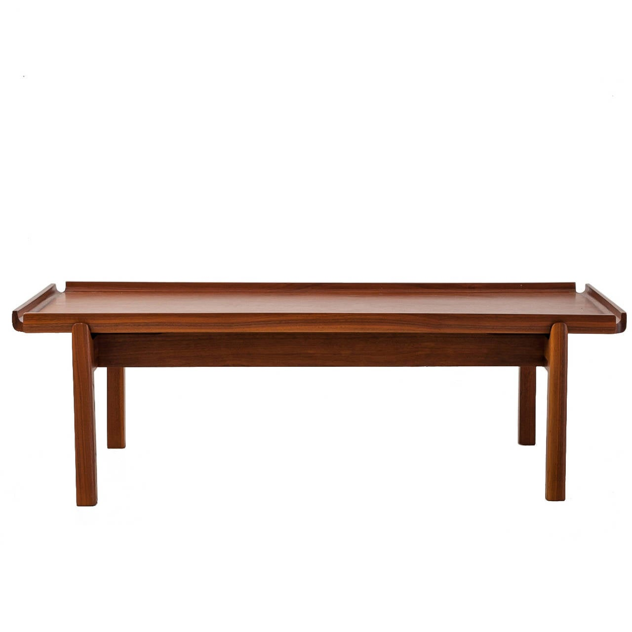 John kapel wooden coffee table with curved edges for sale at 1stdibs john kapel wooden coffee table with curved edges 1 geotapseo Images