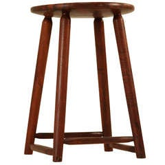 Stool by Espenet, signed and dated 1961
