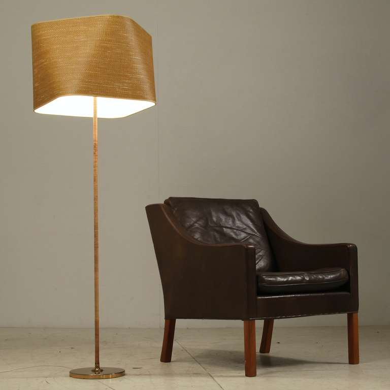 Itsu Floor Lamp with Cane Covered Stem and Cane Shade, Finland ...