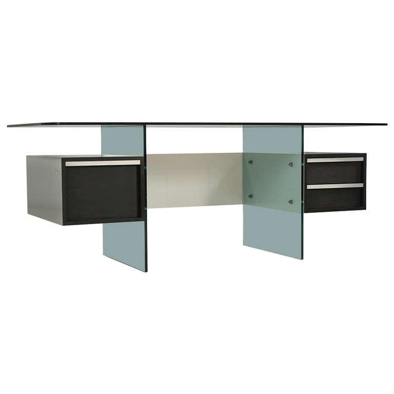 Elegant minimalist desk by french designer xavier marbeau for French furniture designers modern
