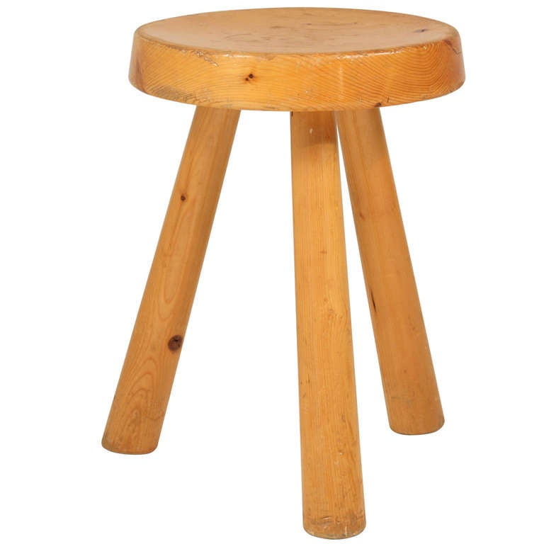 Charlotte Perriand Tripod Stool For Les Arcs At 1stdibs