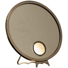 Illuminating Brot mirror in chromed bronze