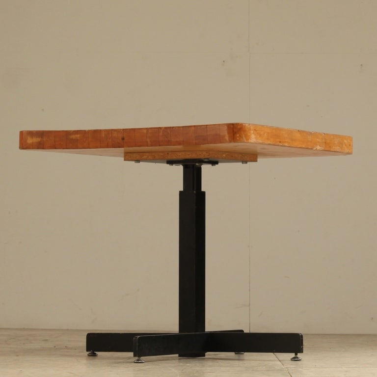 Height Adjustable Side Dining Table By Charlotte Perriand