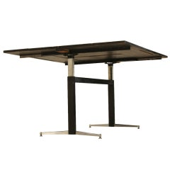 Black Extendable Charlotte Perriand Table From Les Arcs1600