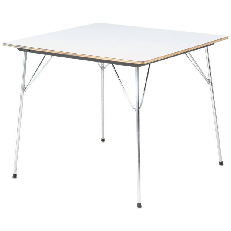 Eames Folding DTM Table with White Laminated Top USA  : 1271608l from www.1stdibs.com size 768 x 768 jpeg 19kB