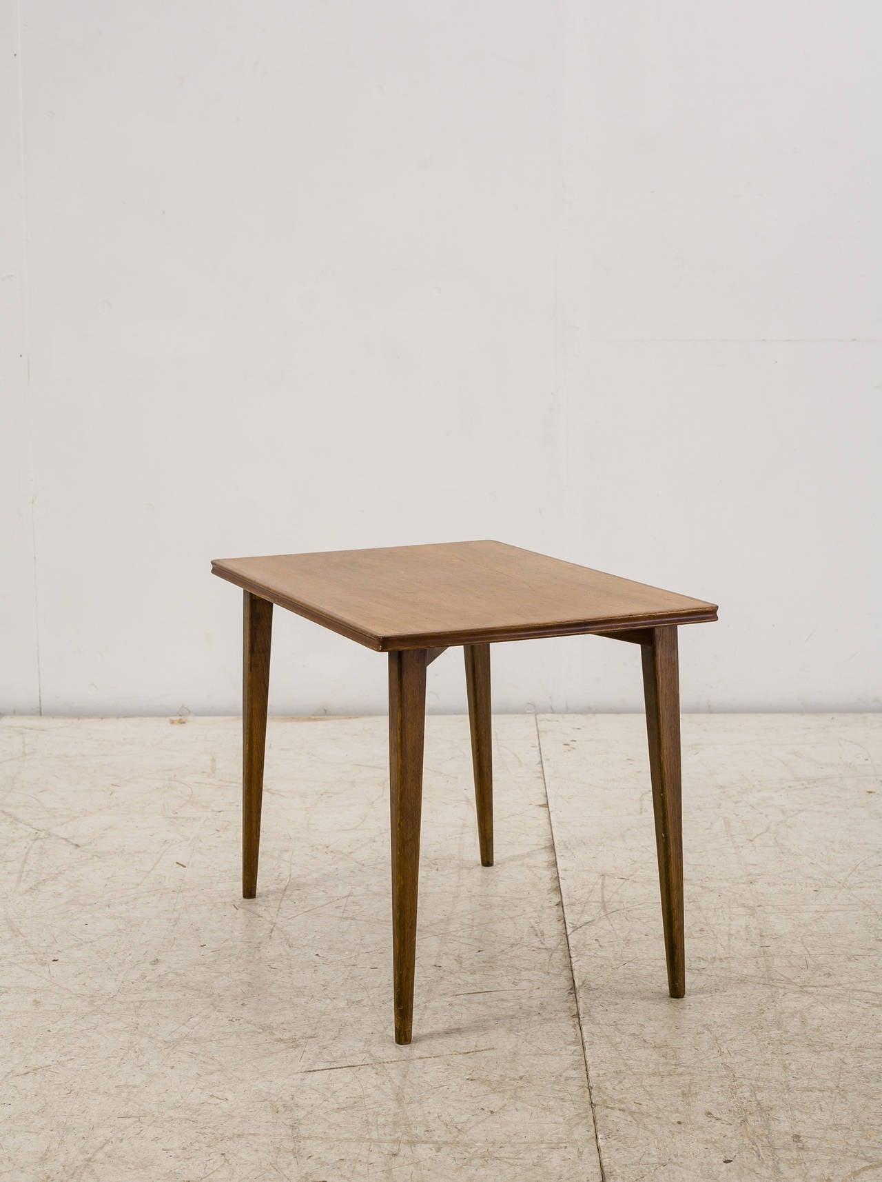 Palle Suenson Small Wooden Side Table, Denmark, 1940s 3