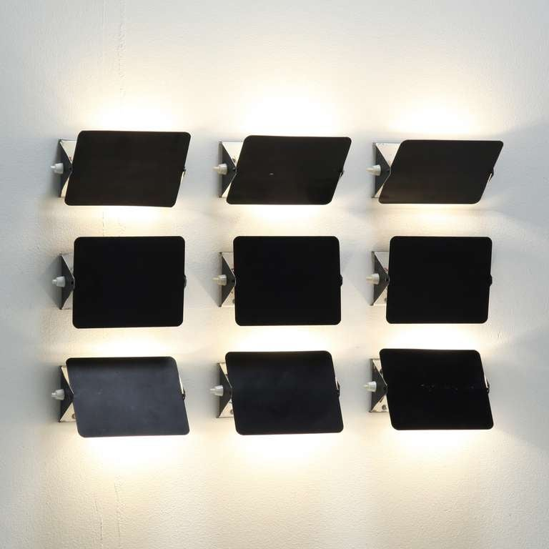 set of 9 charlotte perriand cp1 appliques at 1stdibs. Black Bedroom Furniture Sets. Home Design Ideas