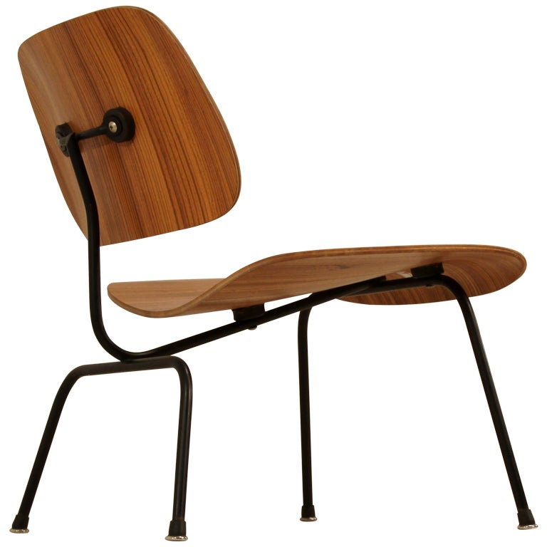 Rare zebra edition of the Eames LCM chair for Herman