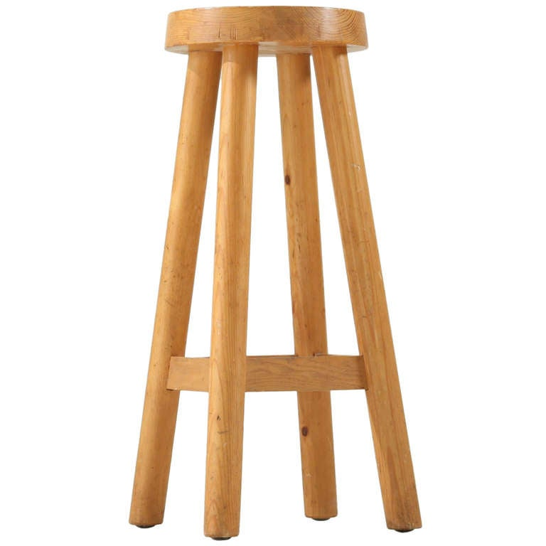 Charlotte Perriand Barstool For Hotel Doron At 1stdibs