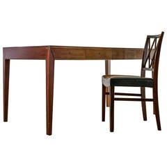 Severin Hansen Desk with Matching Chair for Haslev, Denmark, 1960s