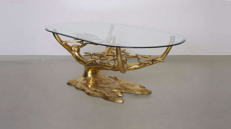 Rare Free Form Willy Daro Brass Coffee Table image 3