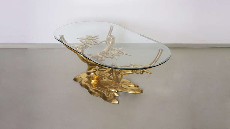 Rare Free Form Willy Daro Brass Coffee Table image 4