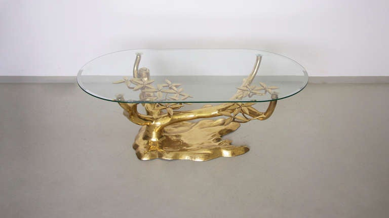 Rare Free Form Willy Daro Brass Coffee Table image 5
