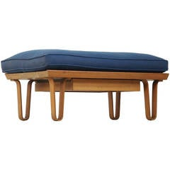 Rare Short 'Long John' Bench with Drawer by Edward Wormley for Dunbar