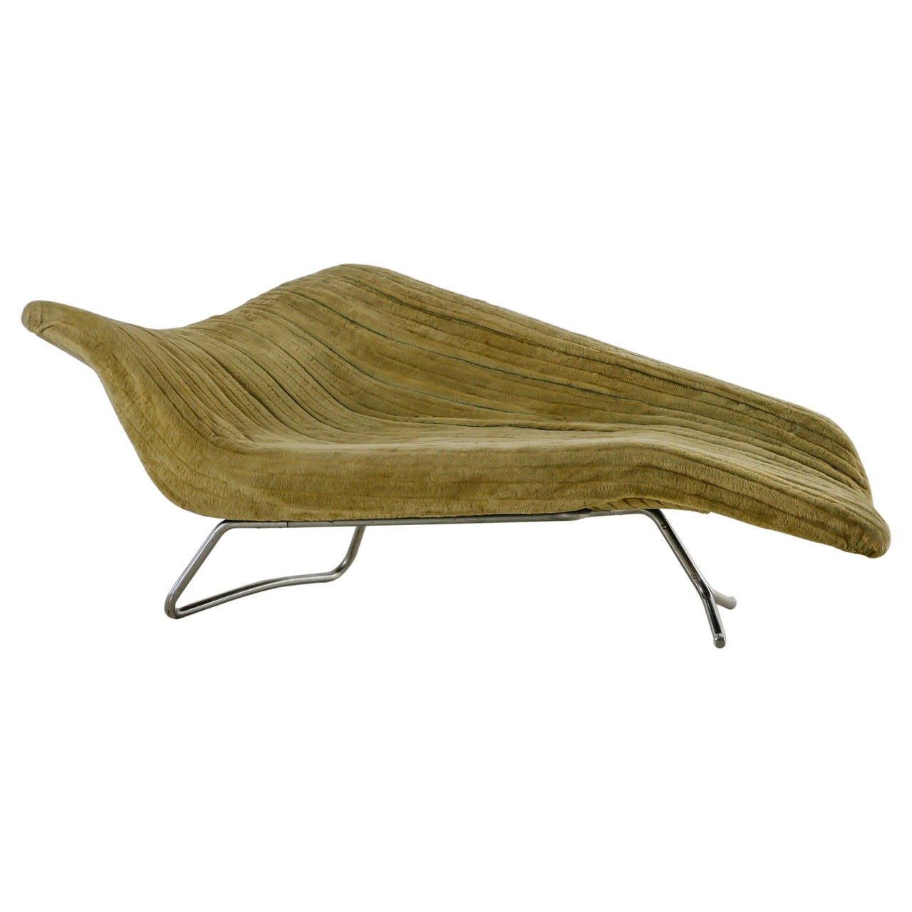 Rare hans hartl sculptural chaise longue denmark 1950s for Chaise longue for sale