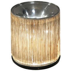 Fratini '597' table lamp with silk fringe by Arteluce