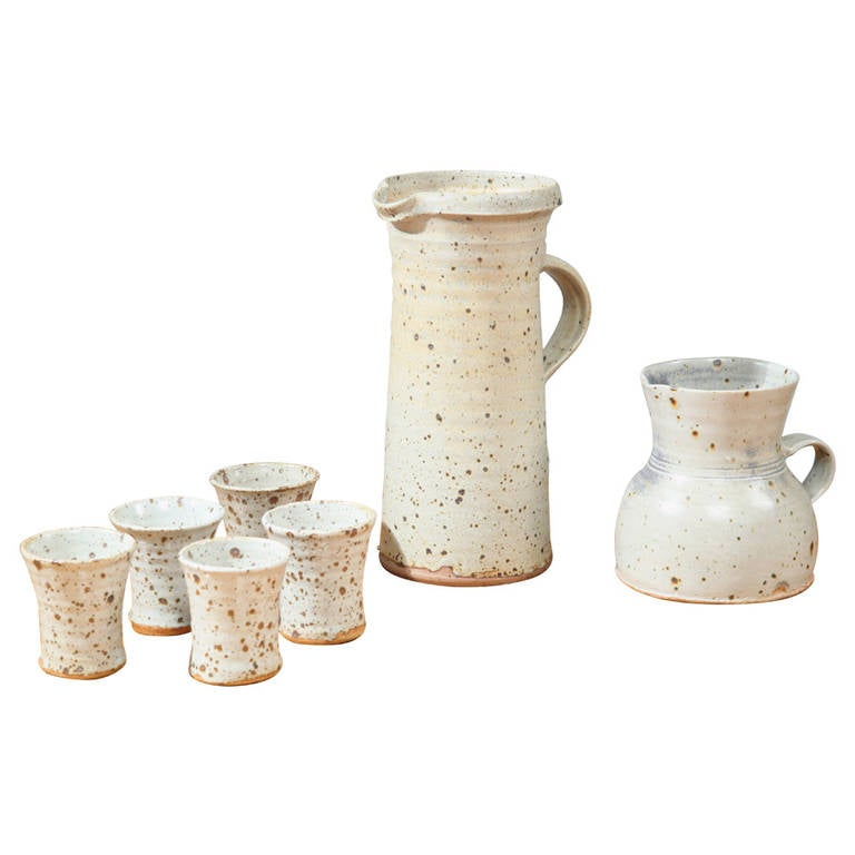 Gustave Tiffoche Ceramic Pitcher Set