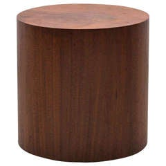 Walnut Drum Table by Milo Baughman for Thayer Coggin
