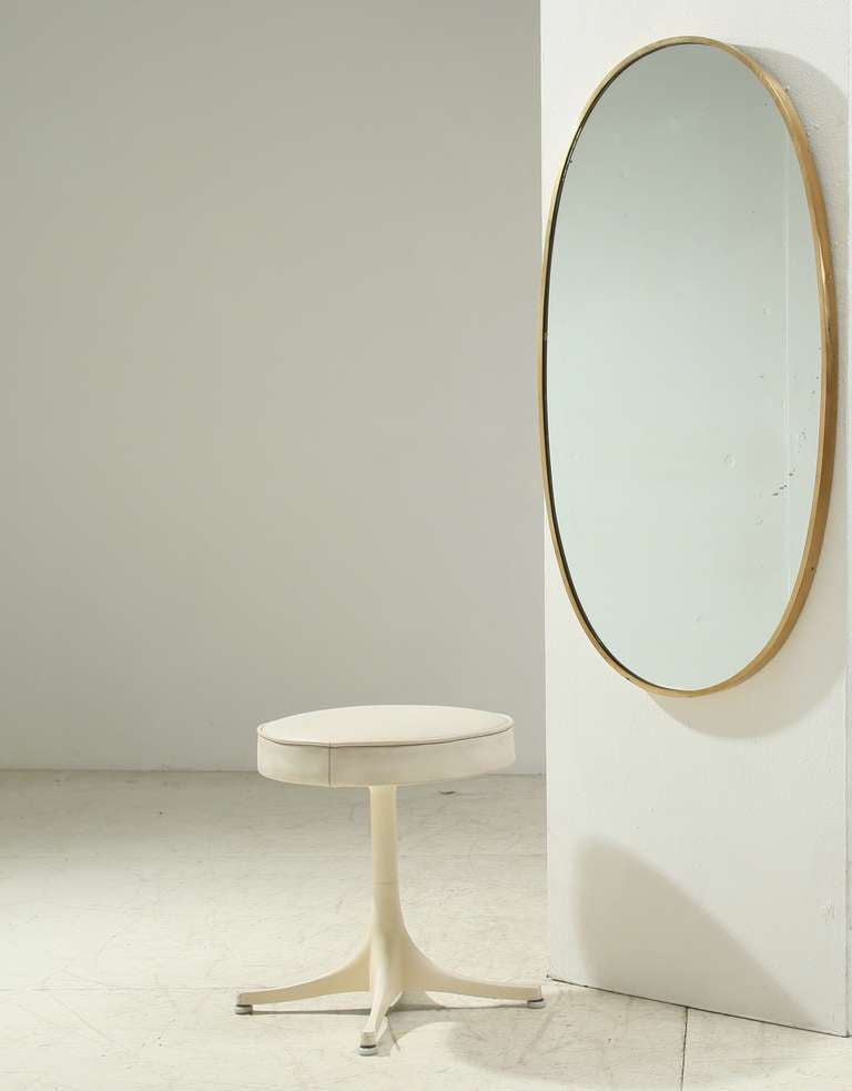 Brass wall mirror elegant in simplicity at 1stdibs for Elegant mirrors