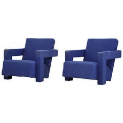 Rare Early Pair of Utrecht Chairs by Gerrit Rietveld