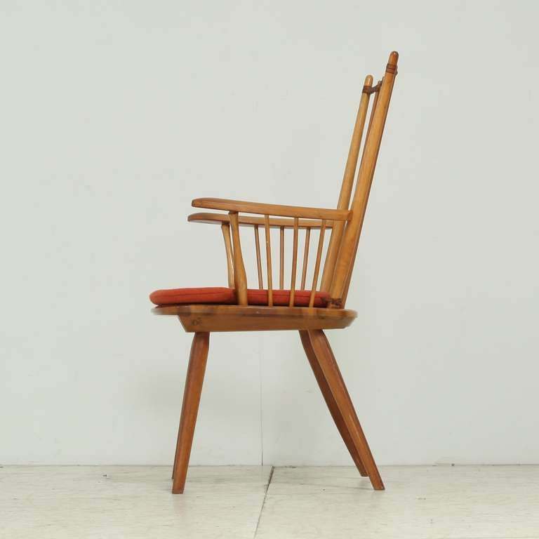German Architectural Arts and Crafts Chair by Albert Haberer for Hermann Fleiner For Sale