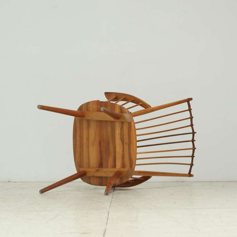 Mid-20th Century Architectural Arts and Crafts Chair by Albert Haberer for Hermann Fleiner For Sale